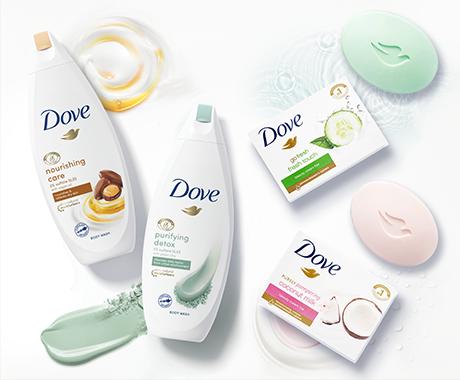 Знижка до 35 % на гелі для душу та мило ТМ Dove у магазинах EVA